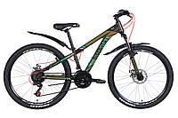 """Велосипед 26"""" Discovery TREK DD 2021 (черно-бирюзовый (м))"""