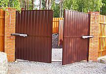 Вороты распашные с калиткой