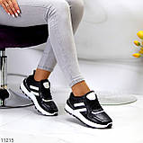 Комфортные стильные черные женские кроссовки на каждый день, фото 2