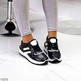 Комфортные стильные черные женские кроссовки на каждый день, фото 3