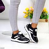Комфортные стильные черные женские кроссовки на каждый день, фото 4