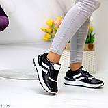 Комфортные стильные черные женские кроссовки на каждый день, фото 5
