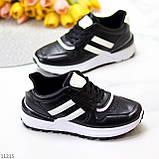 Комфортные стильные черные женские кроссовки на каждый день, фото 6