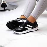 Комфортные стильные черные женские кроссовки на каждый день, фото 7