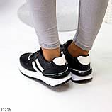 Комфортные стильные черные женские кроссовки на каждый день, фото 8