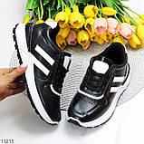 Комфортные стильные черные женские кроссовки на каждый день, фото 10