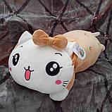 Плед игрушка подушка 3 в1 Кошечка | Игрушка детский плед | Игрушки-Подушки | Мягкая игрушка Розового цвета, фото 2