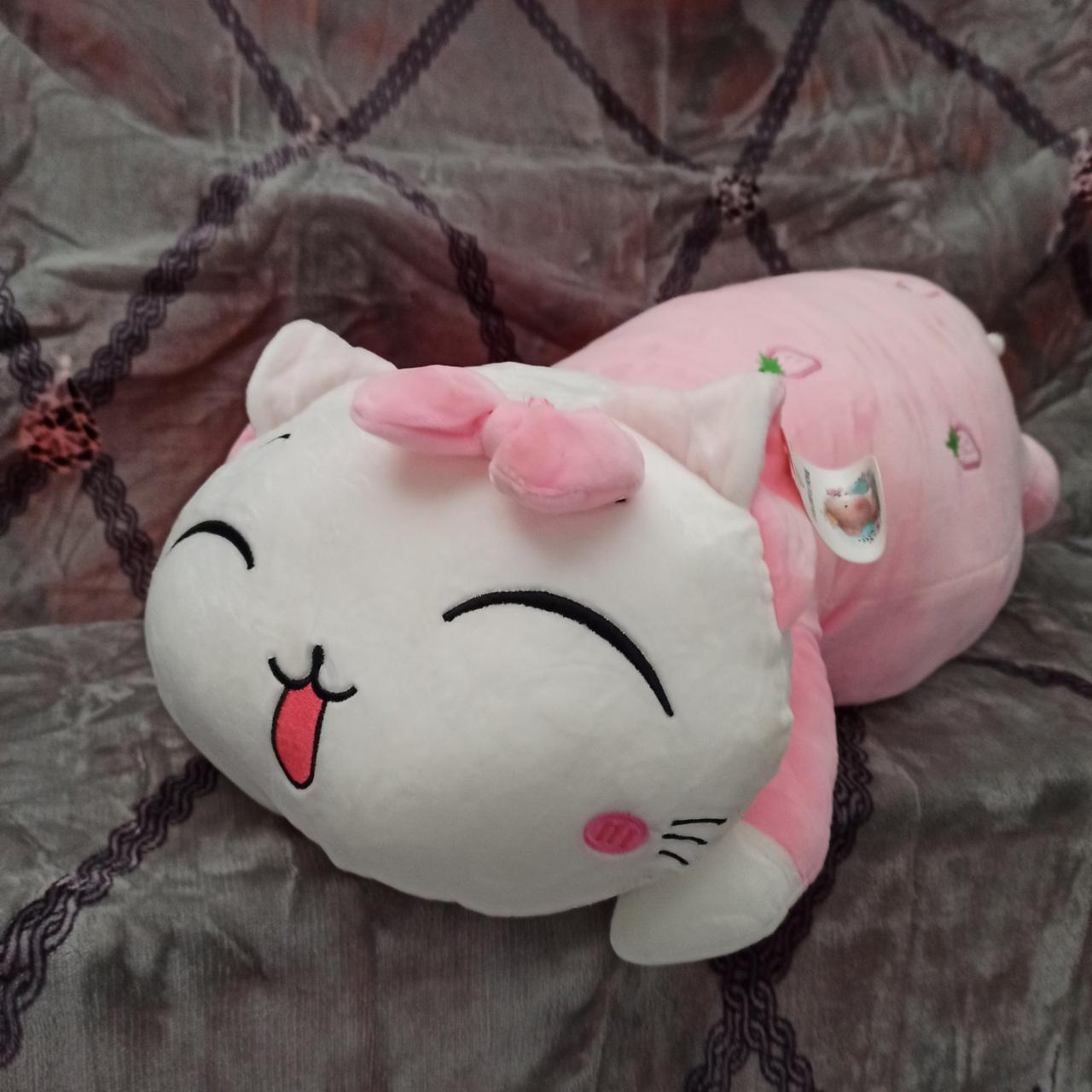 Плед игрушка подушка 3 в1 Кошечка | Игрушка детский плед | Игрушки-Подушки | Мягкая игрушка Розового цвета