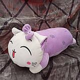 Плед игрушка подушка 3 в1 Кошечка | Игрушка детский плед | Игрушки-Подушки | Мягкая игрушка Розового цвета, фото 3
