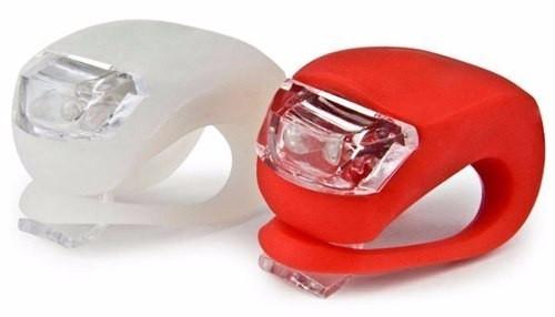 Світлодіодні вело ліхтарі ліхтарики фари HJ008 в комплекті червоний і білий + батарейки фара для велосипеда