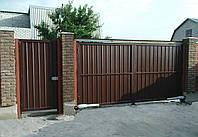 Конструкция распашных ворот