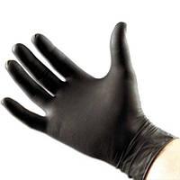 Чёрные нитриловые перчатки Maimed размер на выбор