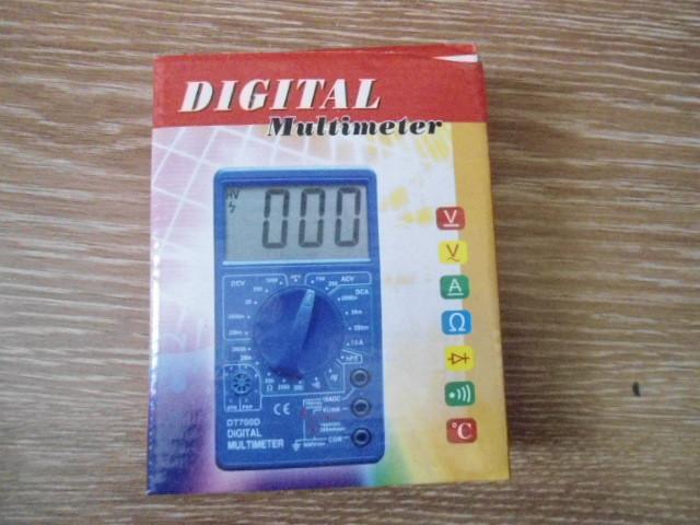 Цифровой  карманный мультиметр тестер DT- 700В с щупами и батарейкой