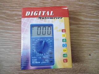 Цифровий кишеньковий мультиметр тестер DT- 700В з щупами і батарейкою