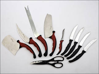Набір кухонних ножів Contour Pro 9 ножів, ножиці + магнітна рейка ножі для кухні