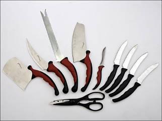 Набор кухонных ножей Contour Pro 9 ножей, ножницы + магнитная рейка ножи для кухни