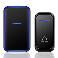 Беспроводной дверной звонок Digital Lion WDB-02, 38 мелодий, до 300 м, Чёрный