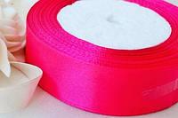 Лента (атлас) 5см цвет ярко розовый