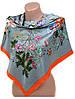 Аккуратный женский платок из шелка размером 90*90 20492-D1 (серый)