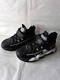 Чорні кросівки на хлопця. СТИЛЬНІ КРОСІВКИ., фото 7