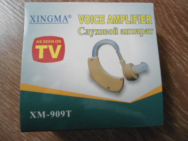 Слуховий апарат підсилювач звуку Xingma XM-909T в комплекті 3 батарейки