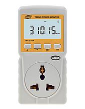 Вимірювач параметрів споживання електроенергії Benetech GM88 (до 10А) з таймером та годинником