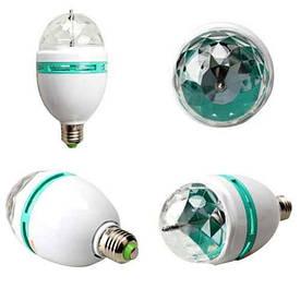 Диско лампа портативная Led-лампа LY-399 для дискотек и  дома  с патроном переходником дисколампа с вилкой