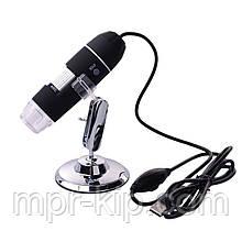 Цифровий USB мікроскоп Magnifier SuperZoom 40-800X з LED підсвічуванням