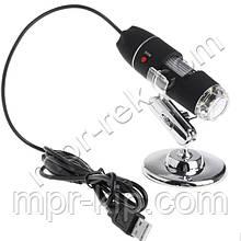 Цифровий USB мікроскоп Magnifier SuperZoom 0-1600X з LED підсвічуванням