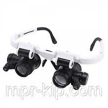 Лупа-окуляри бінокулярні NO.9892H-1 (8x/23x) з LED підсвічуванням
