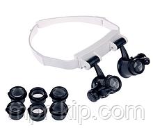 Бінокулярні лупа-окуляри зі світлодіодним підсвічуванням ТН-9202 Magnifier Китай (10x / 15x / 20x / 25x )