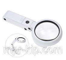 Лупа-трансформер ручна, настільна Magnifier NO.FS37RC з підсвічуванням (11X)