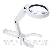 Лупа-трансформер ручна, настільна Magnifier NO.FS55DC з підсвічуванням (7X)