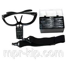 Лупа-окуляри бінокулярні NO.9892B (1Х 1,5 Х 2 Х 2,5 Х 3,5 Х) зі світлодіодним підсвічуванням