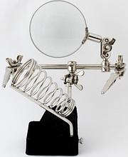 Третя рука тримач з лупою JM-501 2,5х