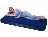 Одноместный надувной матрас Intex Classic Downy 76х191х22 см.