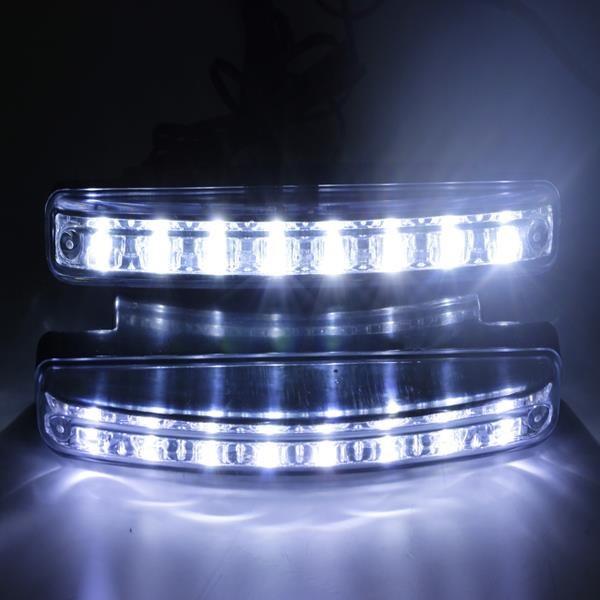Дневные Ходовые Огни для автомобиля DRL 8 LED диодов Цвет свечения: Белый