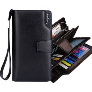Мужской клатч кошелек портмоне Baellerry Business 1063 Black Размеры: 20*10*3 см