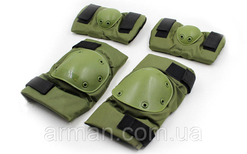 Комплект: тактические налокотники + наколенники. Хаки