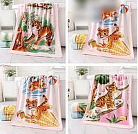 Лицевое полотенце микрофибра Тигрята (6)