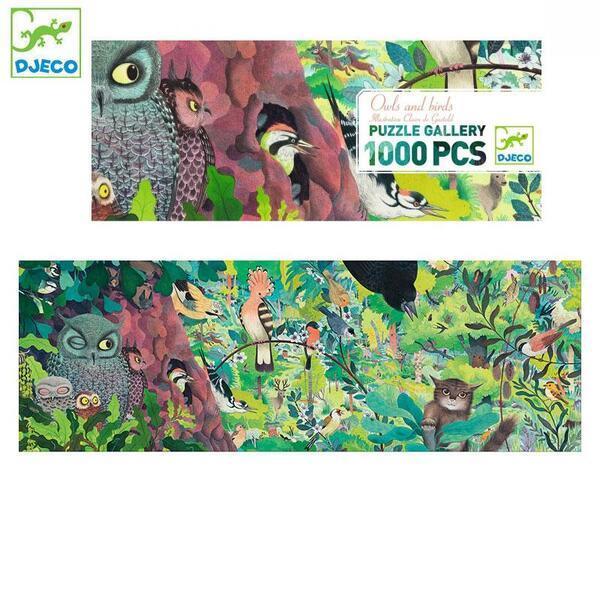 """DJECO Пазл Gallery """"Совы и птицы"""", DJ07644, 1000 деталей"""