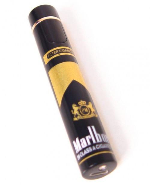 Спиральная электрическая USB зажигалка 113 Marlboro в комплекте шнур для зарядки сигнализация с пультом