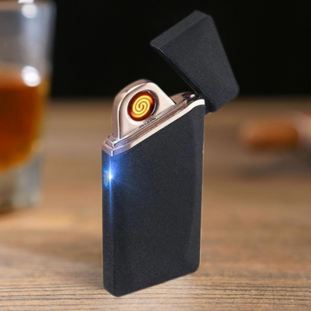 Спіральна електрична USB запальничка ZС 110 в комплекті шнур для зарядки сигналізація з пультом
