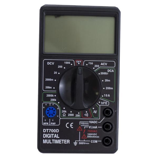 Цифровой  мультиметр тестер Digital Multimeter DT- 700D с щупами и батарейкой