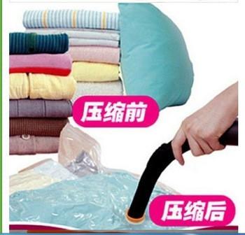 5шт Вакуумні пакети для зберігання одягу прозорі розмір 80 * 110 вакуумні пакети для зберігання речей вакуумні пакети від пилососа