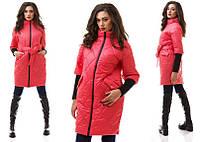 Куртка-пальто стеганая с рукавом 3/4 4 цвета