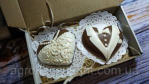 """Шоколадний набір"""" Весільний"""" 120 грам в упаковці"""