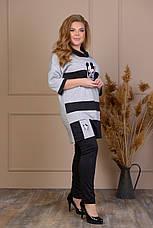 Жіночий прогулянковий костюм великого розміру, фото 3