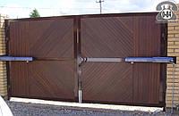 Ворота гаражные металлические распашные