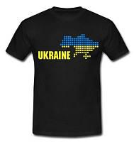 """Футболка черная """"Ukraine"""", Украина"""